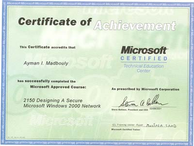 ayman i madbouly khalil photo album microsoft certificates