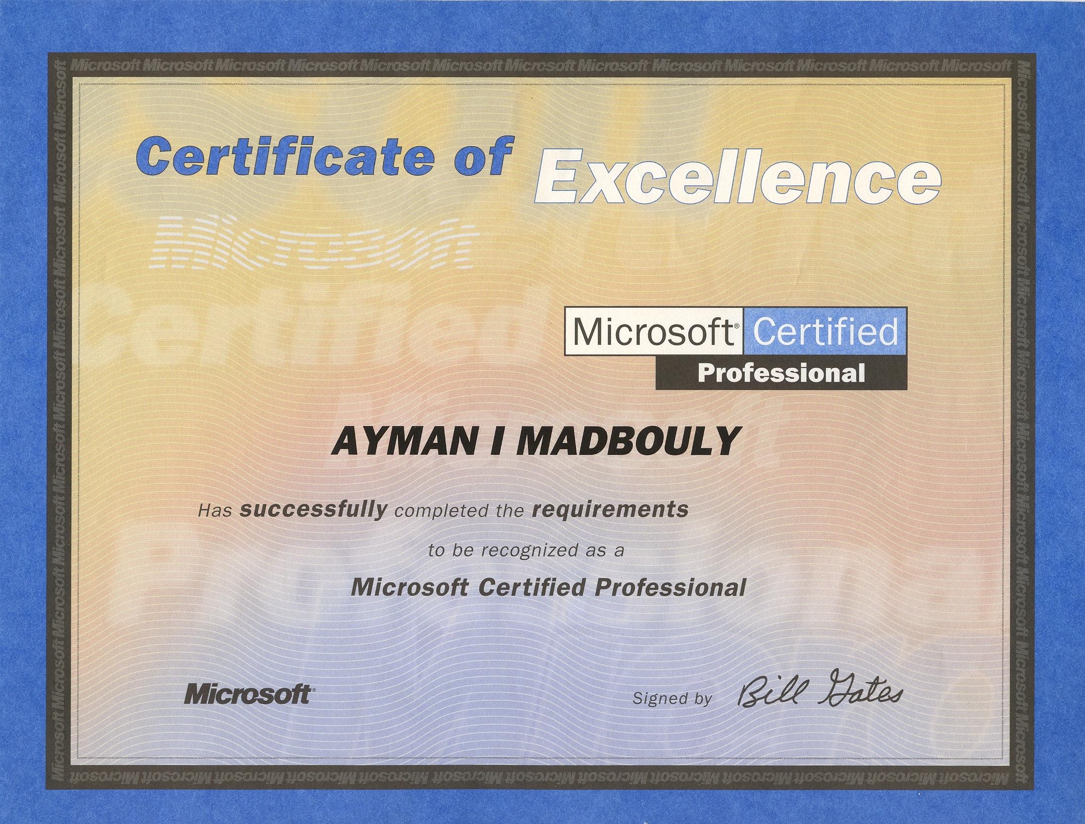 ayman i madbouly khalil photo album microsoft certificates