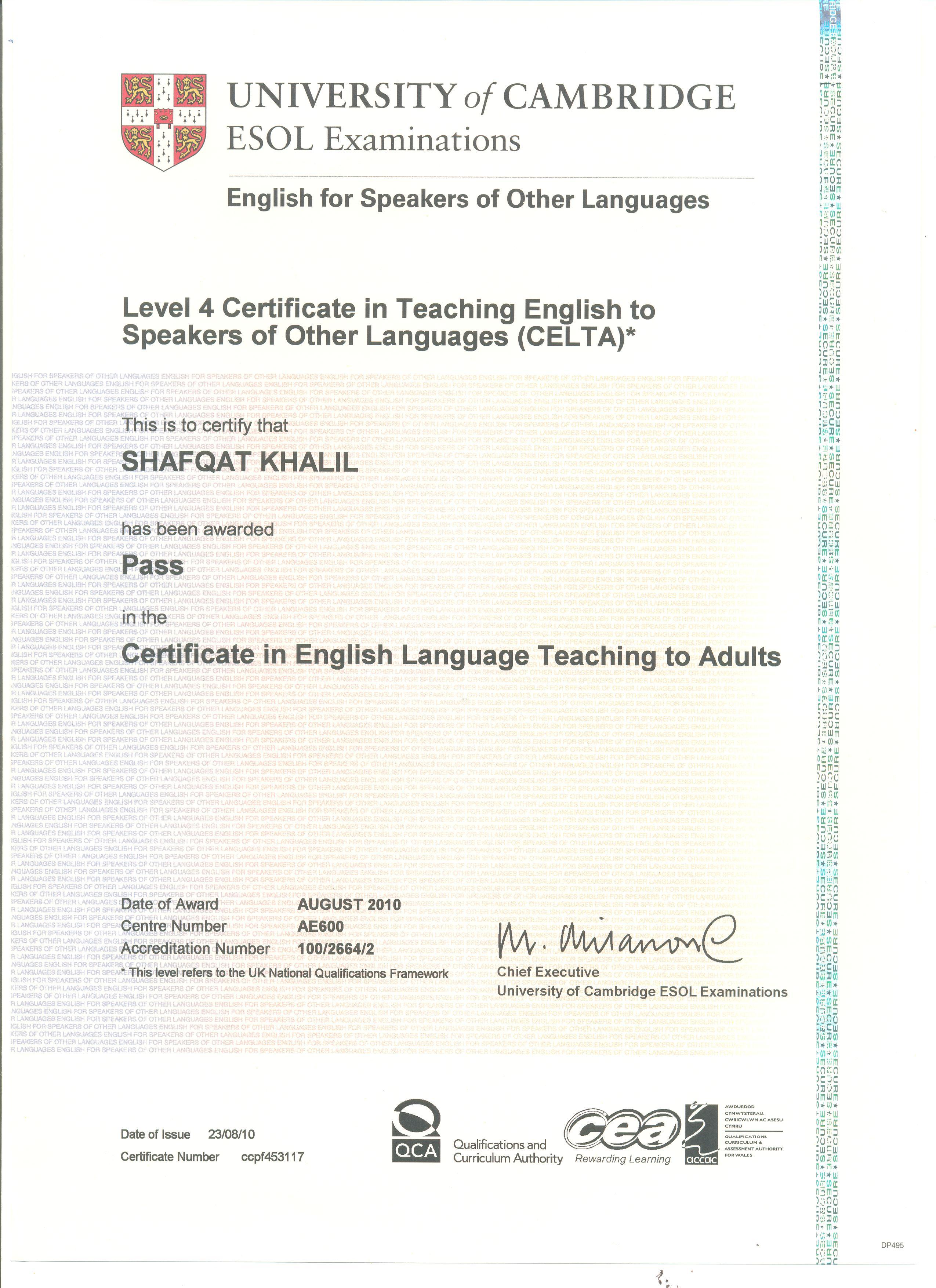 Shafqat khalil photo album celta certificate celta 1betcityfo Images