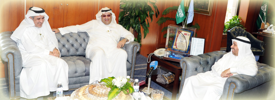 University to receive the Founder President of the Saudi Athletics