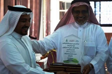 حفل تكريم الدكتور ظافر الزهراني رئيس القسم السابق